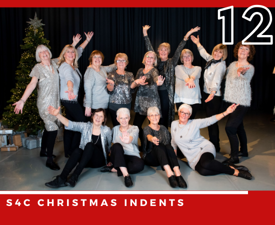 Nu Wave, our over 50s dance group, performing for S4Cs Christmas indents.