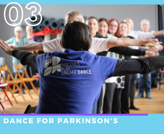 Practitioners at our Wales Wide Training Programme, dance for Parkinsons training day.