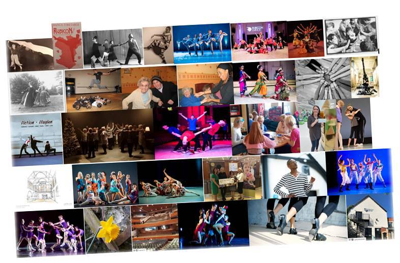 A collage showing the different work Rubicon does across the arts, community, education; health and social care; and tourism sectors.