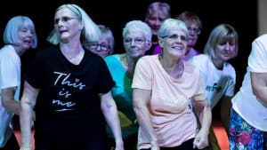 The Whitchurch over 50s dance group performing.