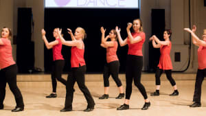 Rubicons adult tap group performing.