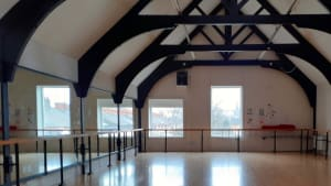 Rubicons upstairs dance studio.