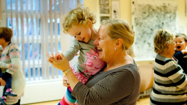 Rubicons adult and toddler class during a session at Penarth Pier.
